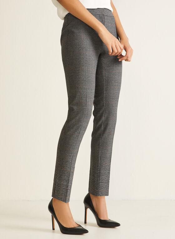 Tartan Print Modern Fit Pants, Brown