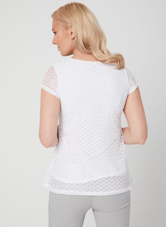 Linea Domani - Crochet Top, White