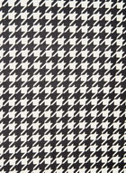 Houndstooth Print Scarf, Red, hi-res