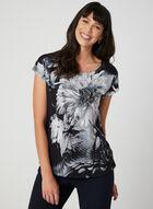 Floral Print T-Shirt, Black