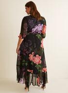 Robe fleurie en mousseline , Noir