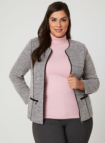 Bouclé Knit Tailored Jacket, Multi, hi-res