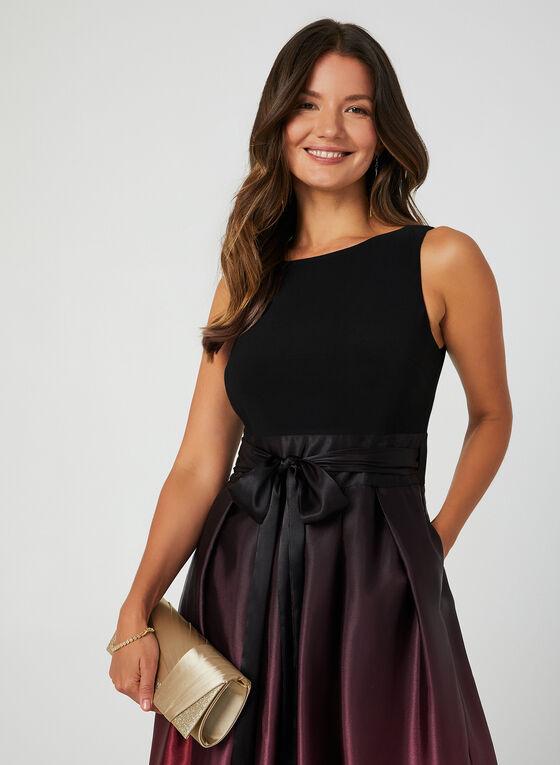 Ombré Satin Skirt Maxi Dress, Purple