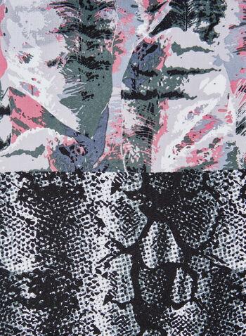 Foulard léger à motif peau de serpent et abstrait, Rose, hi-res