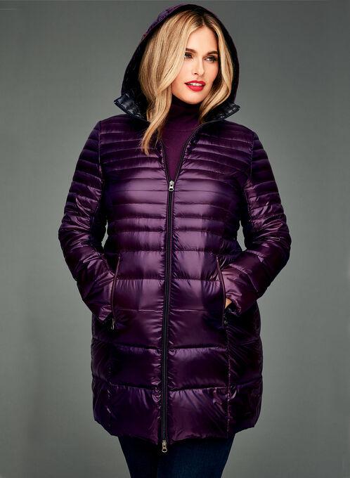 Nuage - Manteau matelassé en duvet compressible, Pourpre, hi-res