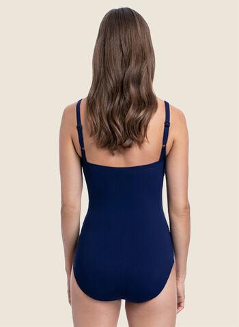 Profile by Gottex - Maillot de bain une pièce zippé, Bleu,  maillot, maillot de bain, une pièce, profile by gottex, fermeture éclair, pompon, bretelles, ajustables, amovibles