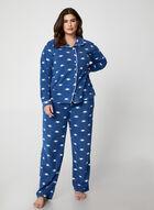 Karmilla Lingerie - Cat Print Pyjama Set, Blue