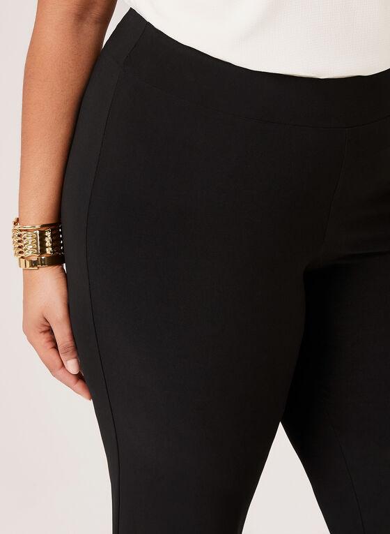Pantalon pull-on à jambe large en jersey, Noir, hi-res