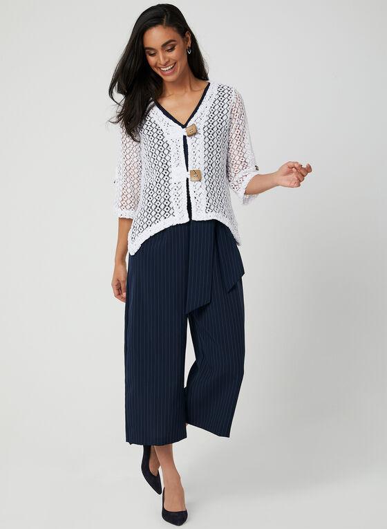 Nina Leonard - Crochet Bolero, White, hi-res
