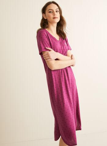 Claudel Lingerie - Night Shirt, Red,  spring summer 2020, nightshirt, pyjama, nightgown,