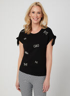 Ness - Stud Detail T-Shirt, Black, hi-res