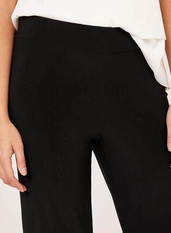 Capri pull-on à jambe large, Noir, hi-res