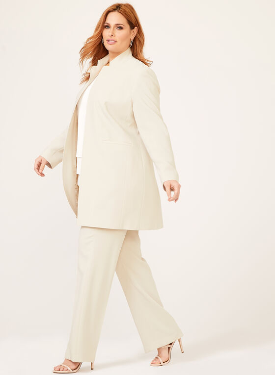 Louben - Signature Fit Straight Leg Dress Pants, Off White, hi-res