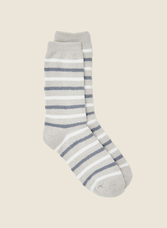 Striped Socks, Grey
