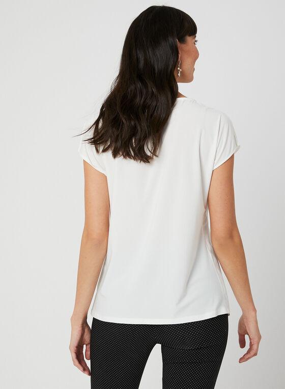 Layered Chiffon Top, Off White, hi-res