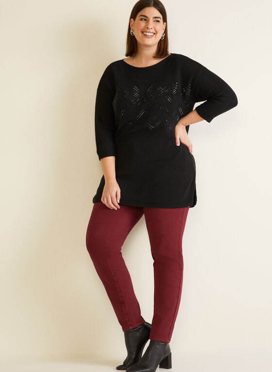 Sweater With Shimmer Detail, Black