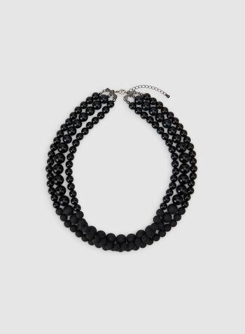 Collier court en perles, Noir, hi-res,  collier, court, perles, automne hiver 2019