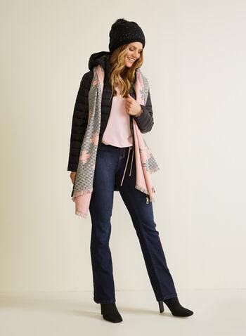 Manteau matelassé compressible , Noir,  automne hiver 2020, manteau, compressible, capuchon, duvet, synthétique, matelassé, poches, pochette