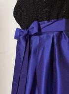 Robe cintrée en dentelle pailletée et taffeta, Multi, hi-res