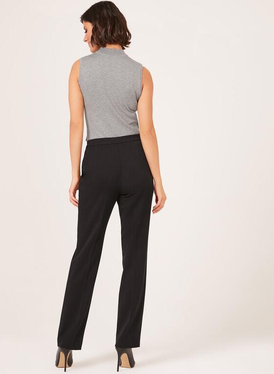 Pantalon signature coupe jambe droite, Noir, hi-res