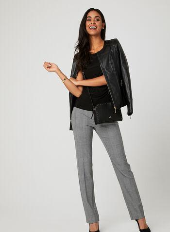 Sleeveless Jersey Top, Black, hi-res