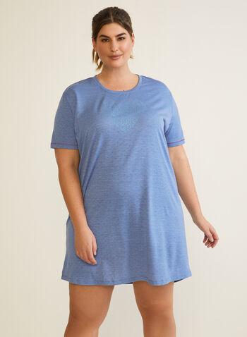 Printed Nightshirt, Blue,  fall winter 2020, nightshirt, pyjama