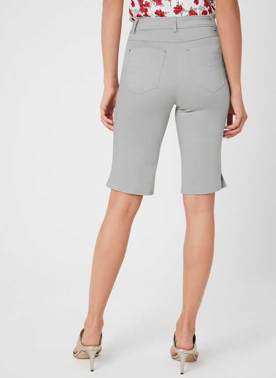 Modern Fit Bermuda Shorts, Grey, hi-res