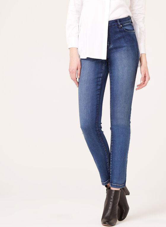Modern Fit Slim Leg Jeans, Blue, hi-res