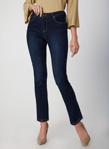 Signature Fit Slim Leg Jeans, Blue,  fall winter 2019, stretchy denim, slim leg