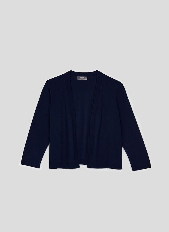 Open Front Bolero, Blue