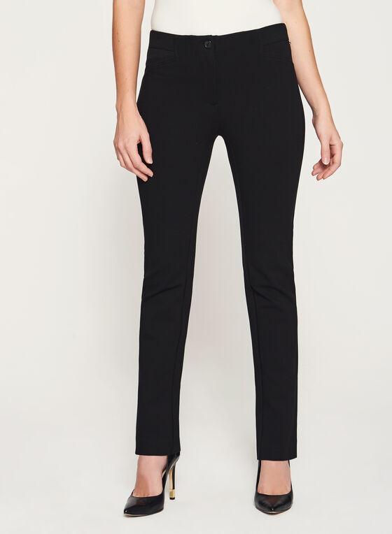 Pantalon à jambe étroite sans ceinture, Noir, hi-res