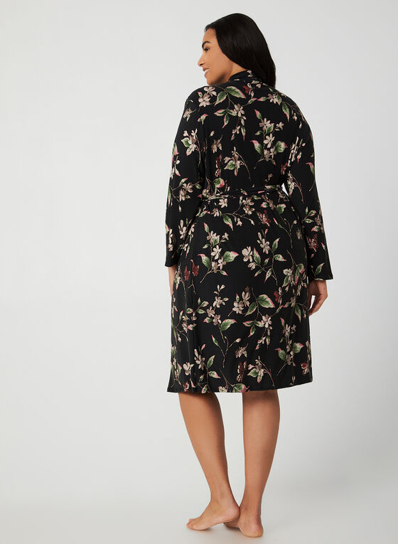 Hamilton - Robe & Nightgown, Black
