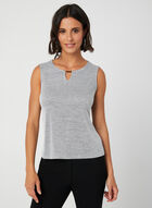 Sleeveless Scoop Neck Top, Grey