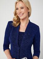 Alex Evenings - Glitter Dress & Jacket Set, Blue, hi-res