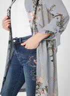 Veste longue à motif floral, Gris, hi-res