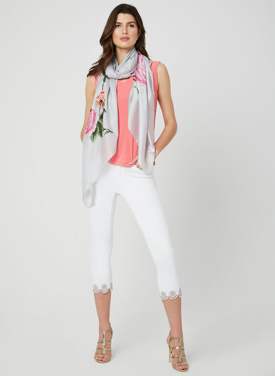 Charlie B - Modern Fit Capri Pants, White, hi-res