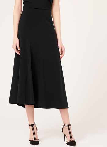 Long Flared Panel Skirt, , hi-res