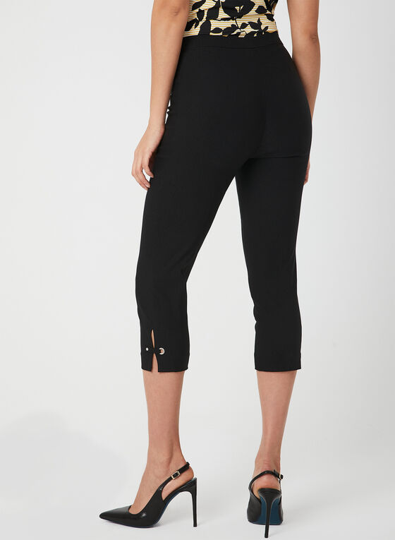 Modern Fit Slim Leg Capris, Black, hi-res