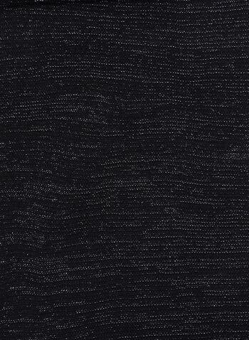Écharpe en tricot asymétrique, Noir, hi-res
