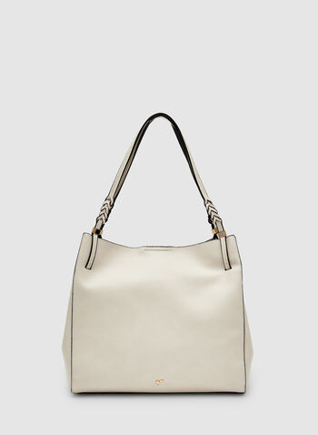 Double Handle Hobo Bag, Off White, hi-res