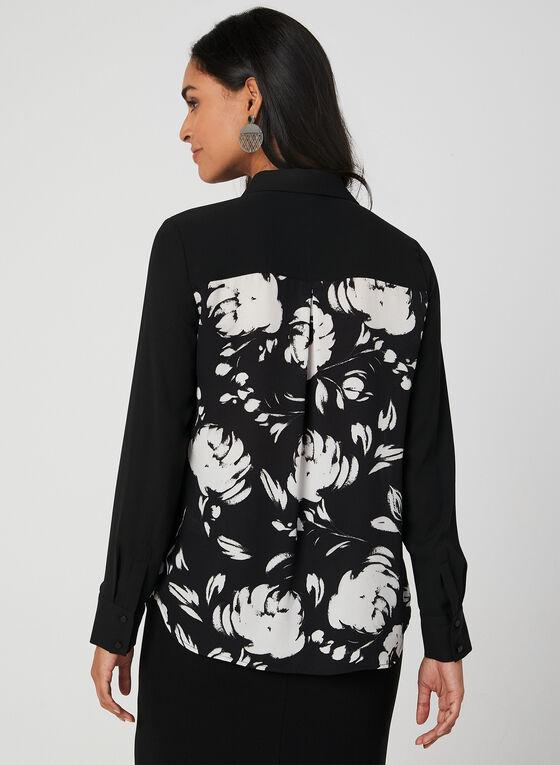 Floral Print Blouse, Black