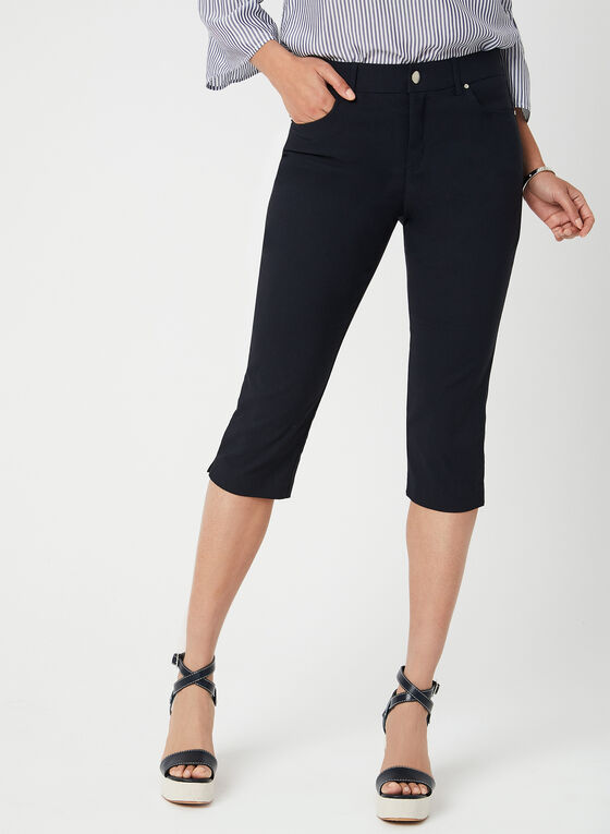 Simon Chang - Signature Fit Slim Leg Capri Pants, Blue, hi-res