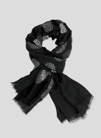 Foulard à motif pois, Noir, hi-res