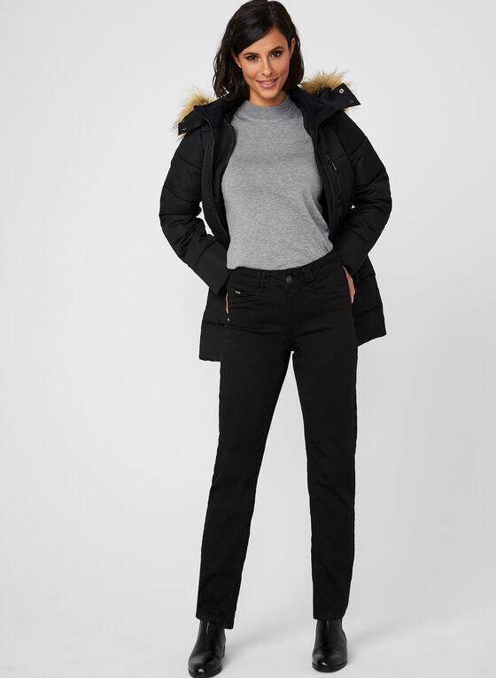 Carreli Jeans - Jean coupe signature à jambe étroite, Noir, hi-res