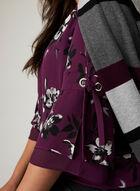 Blouse tunique à motif floral , Violet, hi-res