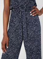 Emma & Michele - Dot Print Jumpsuit, Blue, hi-res