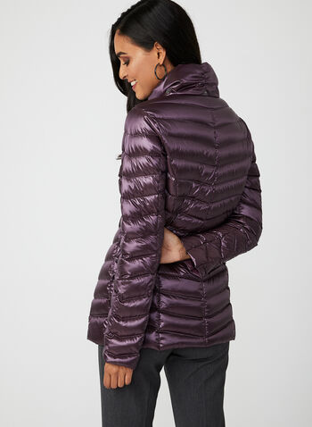 Down Filled Packable Coat, Purple, hi-res