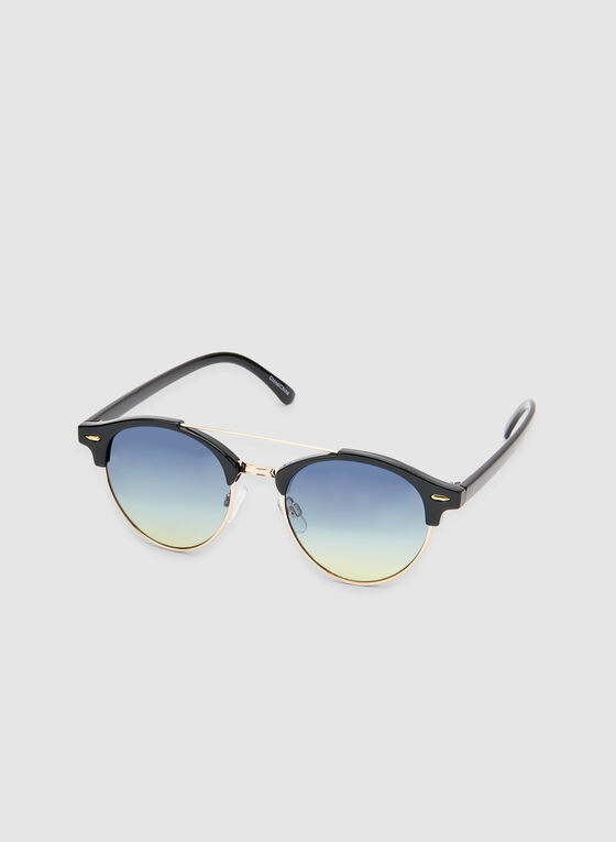 Wire Frame Sunglasses, Black, hi-res