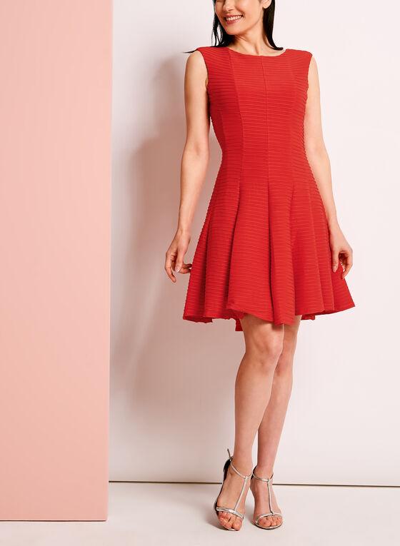 Panelled Fit & Flare Shutter Dress, Pink, hi-res