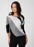 Diagonal Stripe Knit Sweater, Black